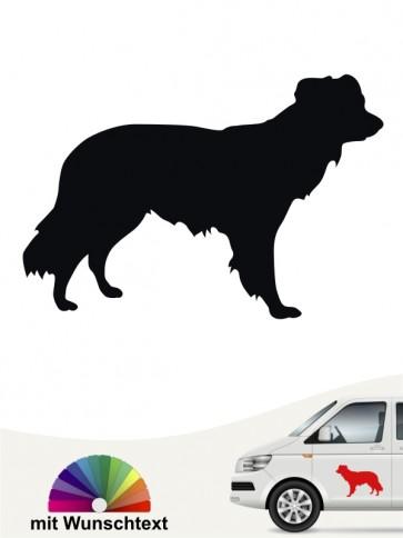 Kromfohrländer Hundeaufkleber mit Wunschtext von anfalas.de
