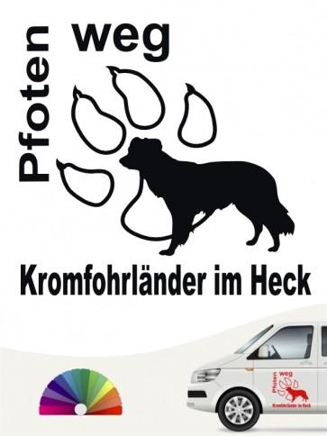 Kromfohrländer Glatthaar Pfoten weg Autosticker von anfalas.de