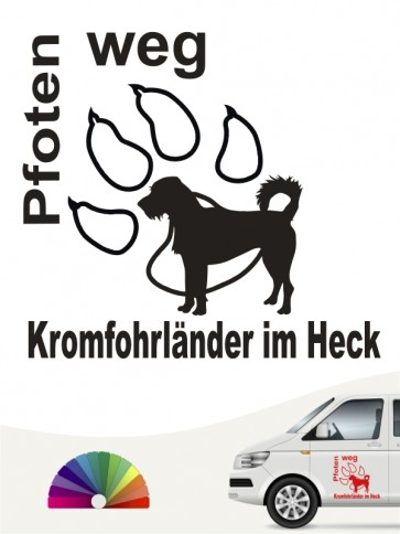 Hunde-Autoaufkleber Kromfohrländer Rauhhaar 5 von Anfalas.de