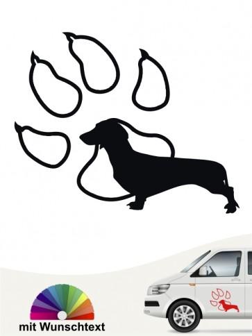 Hunde-Autoaufkleber Kurzhaardackel 14 von Anfalas.de