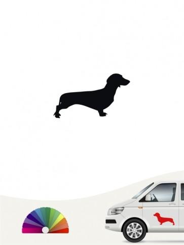 Hunde-Autoaufkleber Kurzhaardackel 1 Mini von Anfalas.de