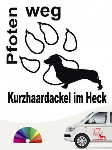Hunde-Autoaufkleber Kurzhaardackel 5 von Anfalas.de