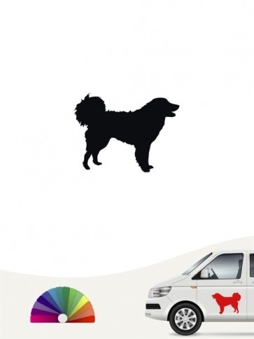 Hunde-Autoaufkleber Kuvasz 1 Mini von Anfalas.de