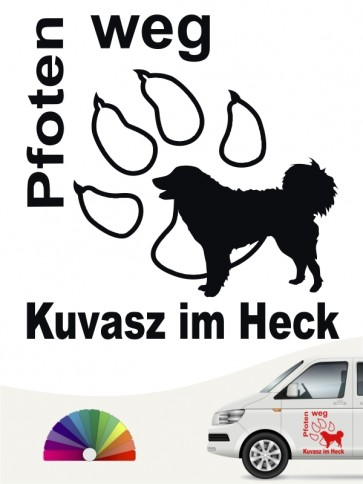 Kuvasz Pfoten weg Autoaufkleber von anfalas.de