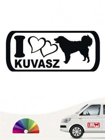I Love Kuvasz Heckscheibensticker von anfalas.de