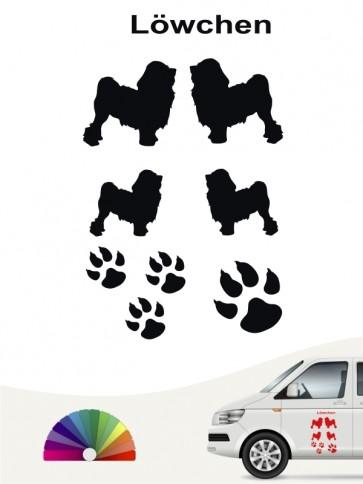 Hunde-Autoaufkleber Löwchen 12 von Anfalas.de