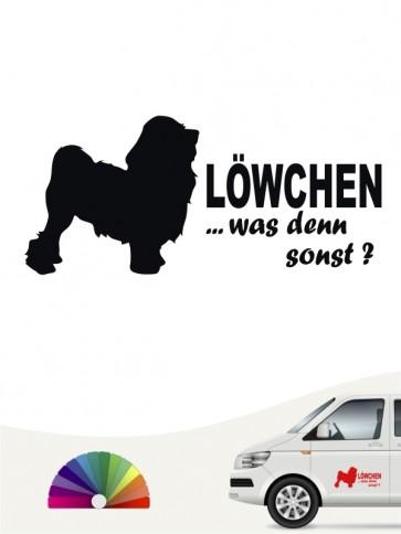 Löwchen was denn sonst Heckscheibenaufkleber von anfalas.de