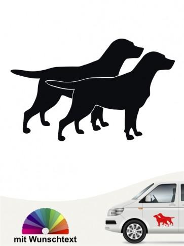 Labrador Hundeaufkleber mit Wunschtext von anfalas.de