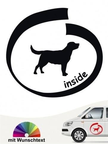 Labrador inside Autoaufkleber mit Wunschname von anfalas.de