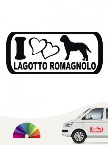I Love Lagotto Romagnolo Heckscheibenaufkleber von anfalas.de