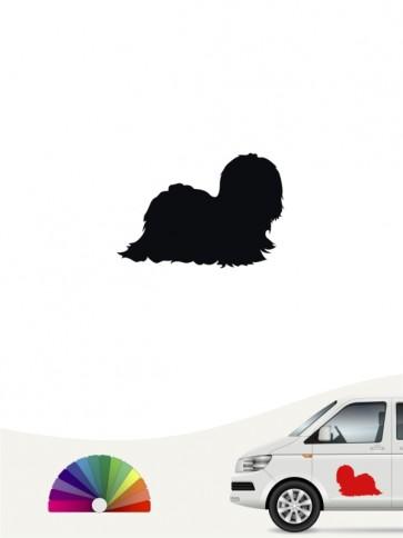 Hunde-Autoaufkleber Malteser 1 Mini von Anfalas.de