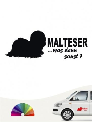 Malteser was denn sonst Heckscheibenaufkleber von anfalas.de