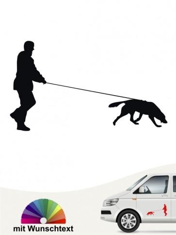 Hunde-Autoaufkleber Mantrailing 5 von Anfalas.de