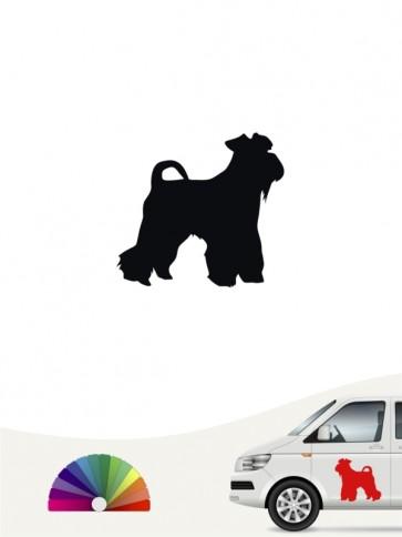 Hunde-Autoaufkleber Mittelschnauzer 1 Mini von Anfalas.de