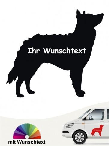 Mudi Silhouette Sticker mit Wunschname von anfalas.de