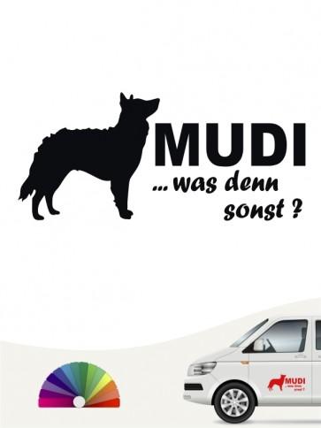 Mudi was denn sonst Autosticker von anfalas.de