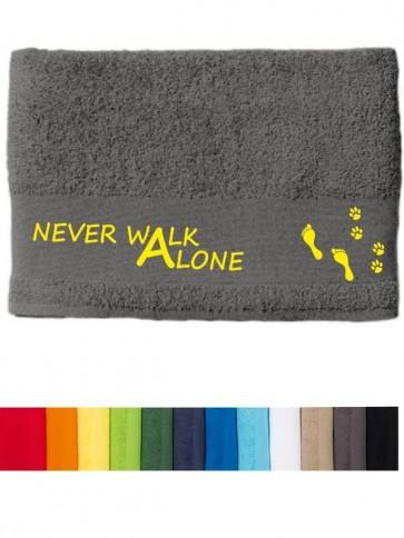 """DOG - Handtuch """"Never walk alone"""" selbst gestalten   ANFALAS"""