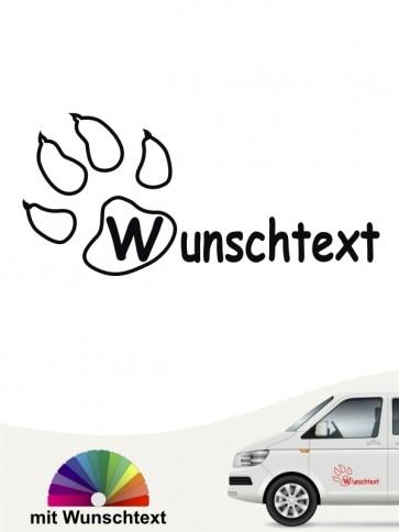 Hunde-Autoaufkleber Pfoten17 von Anfalas.de