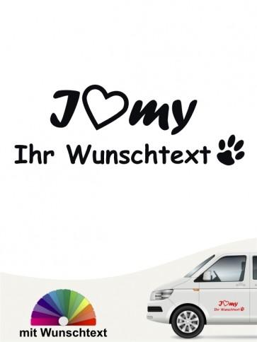 Hunde-Autoaufkleber Pfoten 19 von Anfalas.de