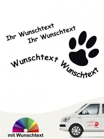 Hunde-Autoaufkleber Pfoten 22a von Anfalas