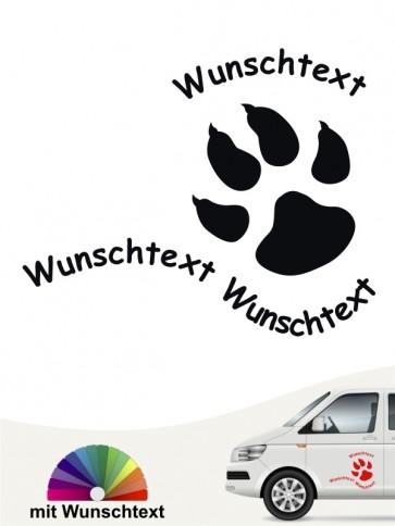 Hunde-Autoaufkleber Pfoten 24 von Anfalas.de