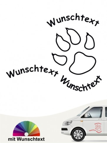 Hunde-Autoaufkleber Pfoten 25 von Anfalas.de