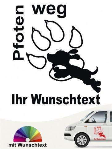 Hunde-Autoaufkleber Pfoten 28 von Anfalas.de
