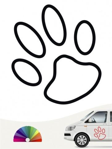 Hunde-Autoaufkleber Pfoten 2a von Anfalas.de