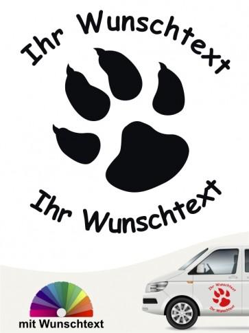 Hunde-Autoaufkleber Pfoten 3 von Anfalas.de