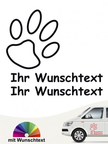Hunde-Autoaufkleber Pfoten 34a von Anfalas.de