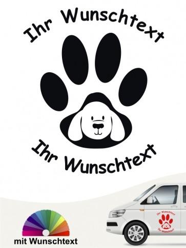 Hunde-Autoaufkleber Pfoten 46 von Anfalas.de