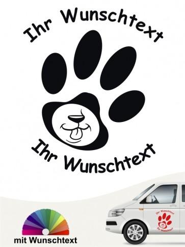 Hunde-Autoaufkleber Pfoten 48 von Anfalas.de