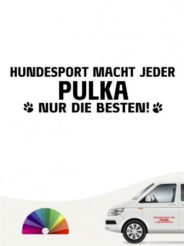 Hunde-Autoaufkleber Pulka nur die Besten von Anfalas.de