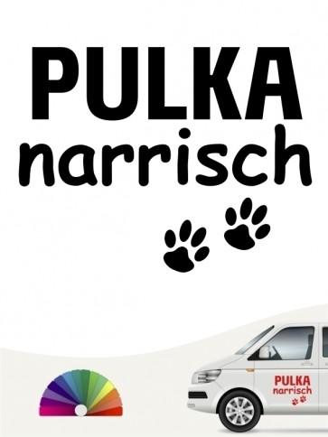 Hunde-Autoaufkleber Pulka narrisch von Anfalas.de