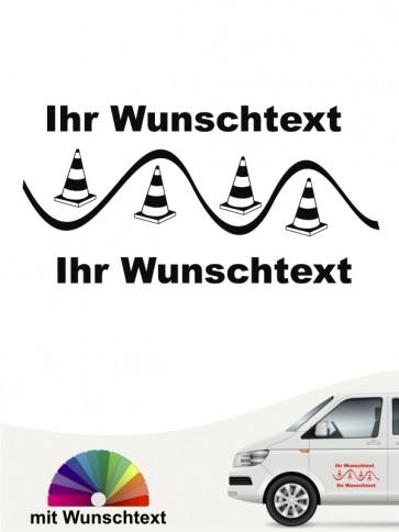 Rally Obedience Aufkleber mit Wunschtext anfalas.de