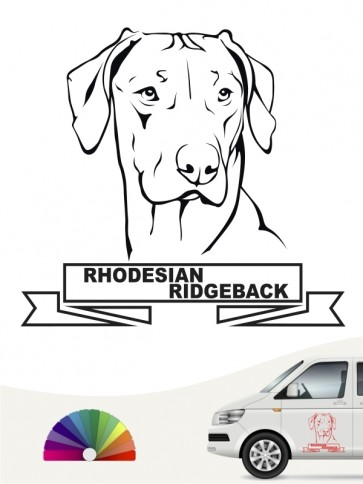Hunde-Autoaufkleber Rhodesian Ridgeback 15  von Anfalas.de