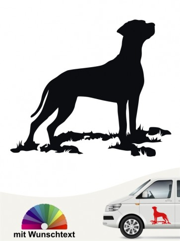 Rhodesian Ridgeback Silhouette Autoaufkleber von anfalas.de
