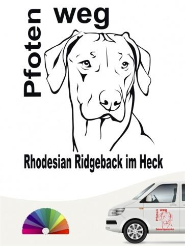 Rhodesian Ridgeback Pfoten weg Hundeaufkleber von anfalas.de