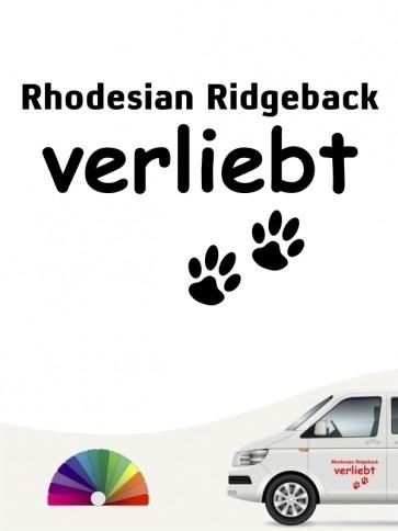 Hunde-Autoaufkleber Rhodesian Ridgeback verliebt von Anfalas.de