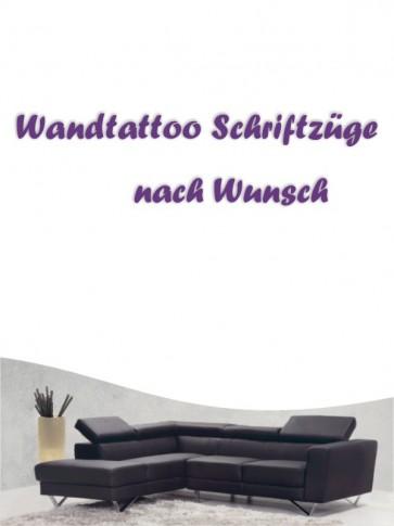 Schriftzug nach Wunsch Wandtattoo von Anfalas.de