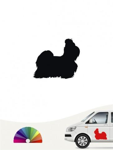 Hunde-Autoaufkleber Shih Tzu 1 Mini von Anfalas.de