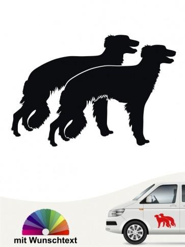 Hunde-Autoaufkleber Silken Windsprite 2 von Anfalas.de