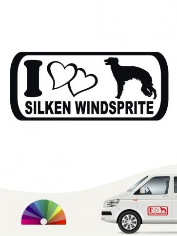 Hunde-Autoaufkleber Silken Windsprite 6 von Anfalas.de