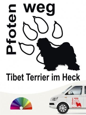 Pfoten weg Tibet Terrier Aufkleber anfalas.de