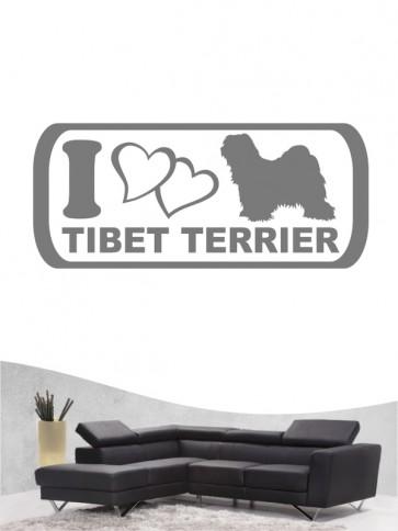 Tibet Terrier 6 - Wandtattoo