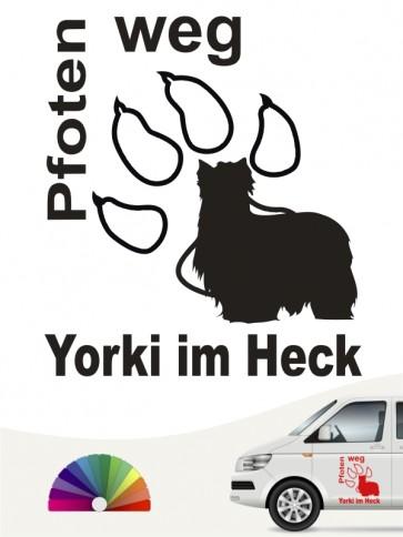 Pfoten weg Aufkleber Yorkshire Terrier anfalas.de