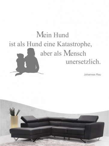 Hunde-Zitat 13 Wandtattoo von Anfalas.de