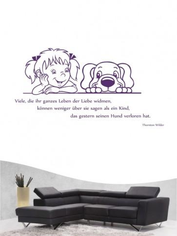 Hunde-Zitat 18 Wandtattoo von Anfalas.de