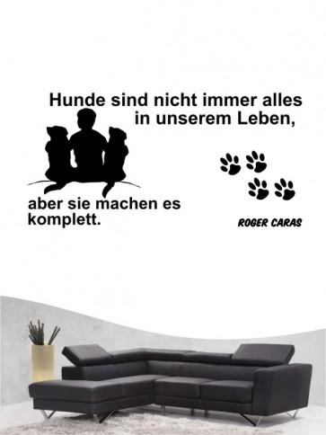 Hunde-Zitat 30 Wandtattoo von Anfalas.de