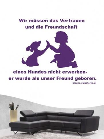 Hunde-Zitat 32 Wandtattoo von Anfalas.de